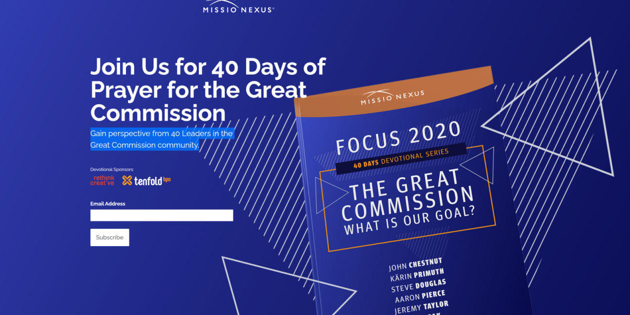 1) 40 Days of Prayer for the Great Commission