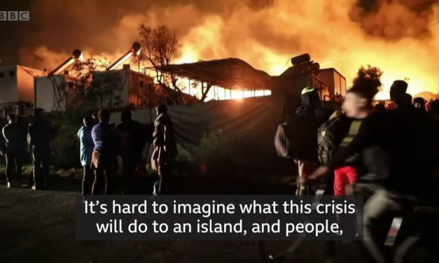 2) Insult to Injury: Fire Rips through Refugee Shelters in Greece